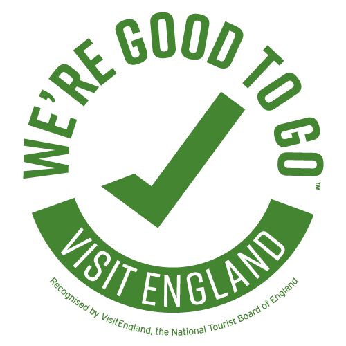 We're Good To Go for COVID-19, as recognised by Visit Britain, the National Tourist Board of England